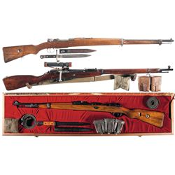 Three Bolt Action Rifles -A) Model 1903/38 Turkish Mauser Bolt Action Rifle