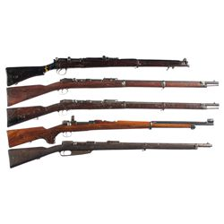 Five Bolt Action Longarms -A) British SMLE No. 1 MK III 410 Bolt Action Musket