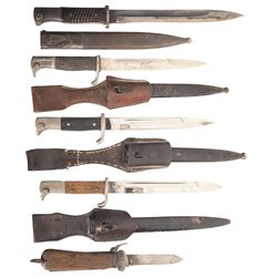 Four German Bayonets and a Gravity Knife