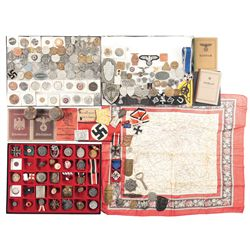 Nazi Style Pins, Buttons, Medals and Other Assorted Items