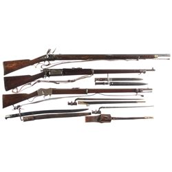 Three Military Longarms -A) Copy of British Flintlock Musket