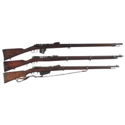 Three Antique Bolt Action Military Rifles -A) Dutch Beaumont Model 1874 Bolt Action Rifle