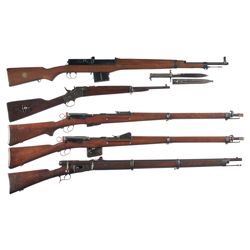 Five Military Longarms -A) Swedish AG-42B Ljungman Semi-Automatic Rifle with Bayonet