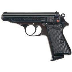 "Unique ""NSKK"" Marked Walther PP Semi Automatic Pistol"