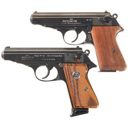 Two Semi-Automatic Pistols -A) Early Post War Police Walther Model PP Semi-Automatic Pistol