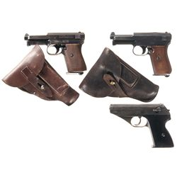 Three German Semi-Automatic Pistols -A) Mauser Model 1934 Semi-Automatic Pistol with Holster