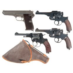 Four Hand Guns -A) Czech Model 1952 Semi-Automatic Pistol
