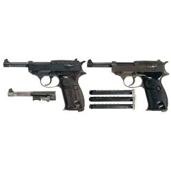 "Two Walther P-38 Semi-Automatic Pistols -A) Walther ""ac/43"" P-38 Semi-Automatic Pistol"