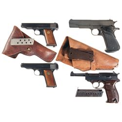 Four Semi-Automatic Pistols -A) Deutsche Werke Ortgies Semi-Automatic Pistol with Holster