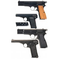 Four Semi-Automatic Pistols -A) Browning High Power Semi-Automatic Pistol