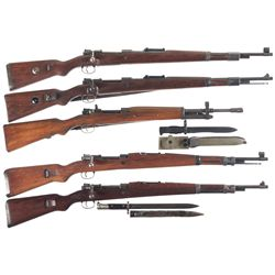 Five Bolt Action Military Rifles -A) Yugoslavian Mauser Model 98/48 Bolt Action Rifle
