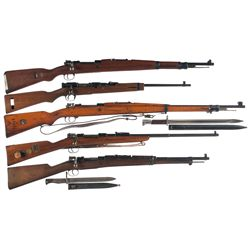 Five Bolt Action Long Guns -A) Yugoslavian M48 Bolt Action Rifle