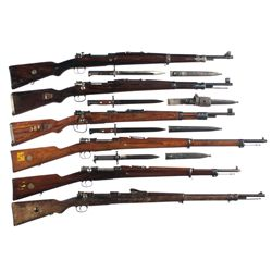 Six Bolt Action Military Rifles -A) CZ Vz24 Bolt Action Rifle with Bayonet