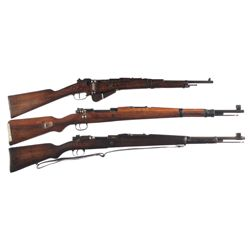 Three Bolt Action Long Guns -A) St. Etienne Model 1916 Bolt Action Carbine