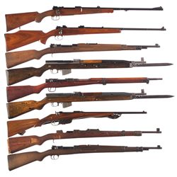 Nine European Rifles -A) Post-WWI Guild Bolt Action Rifle