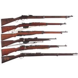 Six Military Long Arms -A) Steyr Martini-Henry Model 1885