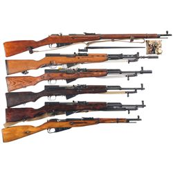 Six Russian/ Eastern European Long Arms -A) Russian Nagant Model 91/30 Bolt Action Rifle
