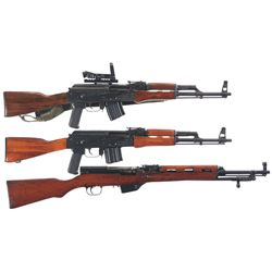 Three Semi-Automatic Rifles -A) Romanian SAR-1 Semi-Automatic Rifle with Sight