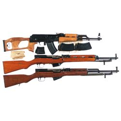 Three Semi-Automatic Rifles -A) Romarm Model WASR-10 Semi-Automatic Rifle with Accessories