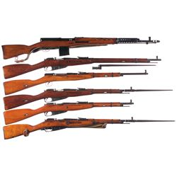 Six Military Longarms -A) Russian Model 1940 SVT Semi-Automatic Rifle