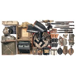 Large Grouping of Belts, Canteens, Cartridge Carriers and Other Assorted Items