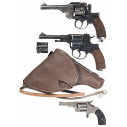 Three Hand Guns and Military Affects -A) Japanese Type 26 Double Action Revolver
