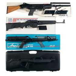 Three Rifles and One Shotgun -A) Techno Arms MAG-7 M1 Slide Action Shotgun with Box