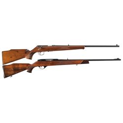 Two Long Guns -A) Savage Anschutz Model 164 Sporter Bolt Action Rifle