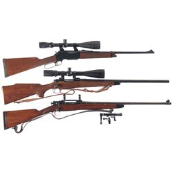 Three Long Guns -A) Browning Model 81 BLR Lever Action Rifle with Scope