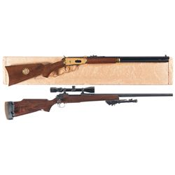 Two Long Guns -A) Winchester Model 94 Lone Star Commemorative Lever Action Carbine with Box