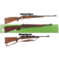 Three Bolt Action Rifles -A) Sears Model 53 Bolt Action Rifle with Scope