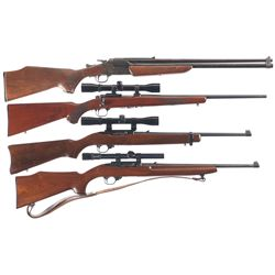 Four Sporting Long Guns -A) Savage Arms Model 24 Combination Gun