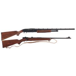 Two Long Guns -A) Browning Model 12 Slide Action Shotgun
