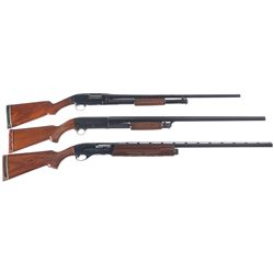 Three Shotguns -A) Winchester Model 12 Slide Action Shotgun