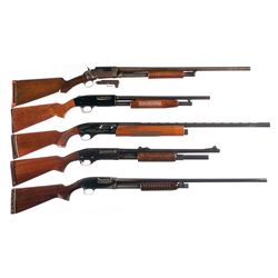 Five Shotguns -A) Marlin Model 19 Slide Action Shotgun