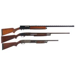 Three Shotguns -A) Belgian Browning Auto 5 Magnum Semi-Automatic Shotgun