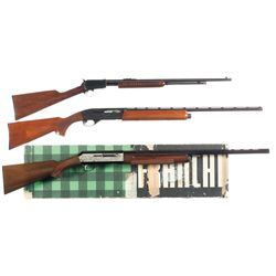 Two Semi Automatic Shotguns and One Slide Action Rifle -A) Remington Model 1100LW 28 Gauge Semi-Auto