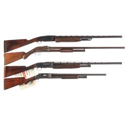 Four Slide Action Shotguns -A) Remington Model 10-T Slide Action Trap Shotgun