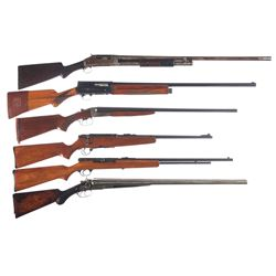 Six Long Guns -A) Winchester Model 1897 Takedown Slide Action Shotgun