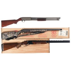 Three Shotguns -A) Ithaca Model 37 Riot Slide Action Shotgun