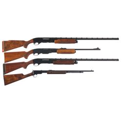 Two Rifles and Two Shotguns -A) Remington Wingmaster Model 870TC 150th Anniversary Slide Action Shot