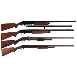 Four Slide Action Shotguns -A) Remington Wingmaster Model 870TB Slide Action Shotgun