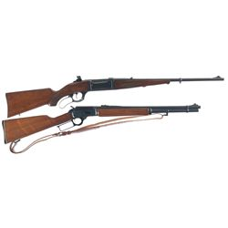 Two Lever Action Rifles -A) Savage Model 1899-A Lever Action Rifle