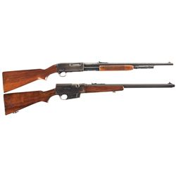 Two Remington Long Guns -A) Remington Model 141 Slide Action Carbine