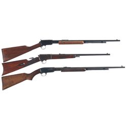 Three Winchester Rifles -A) Winchester Model 62A Slide Action Rifle