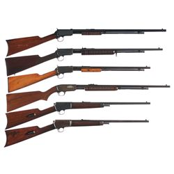 Collector's Lot of Six Winchester Rifles -A) Winchester Third Model 1890 Slide Action Rifle