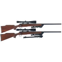 Two Remington Model 700 Bolt Action Rifles -A) Remington Model 700 BDL Bolt Action Rifle with Scope