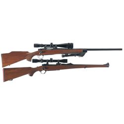 Two Scoped Bolt Action Rifles -A) Remington 700 Bolt Action Rifle with Scope