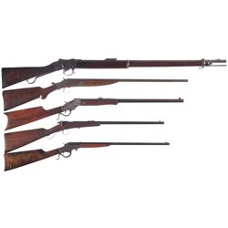 Five Long Guns -A) Enfield Mark IV-I Single Shot Rifle