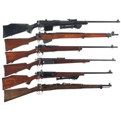 Six Bolt Action Rifles and Carbines -A) Ishapore Enfield Number 2A1 Bolt Action Rifle